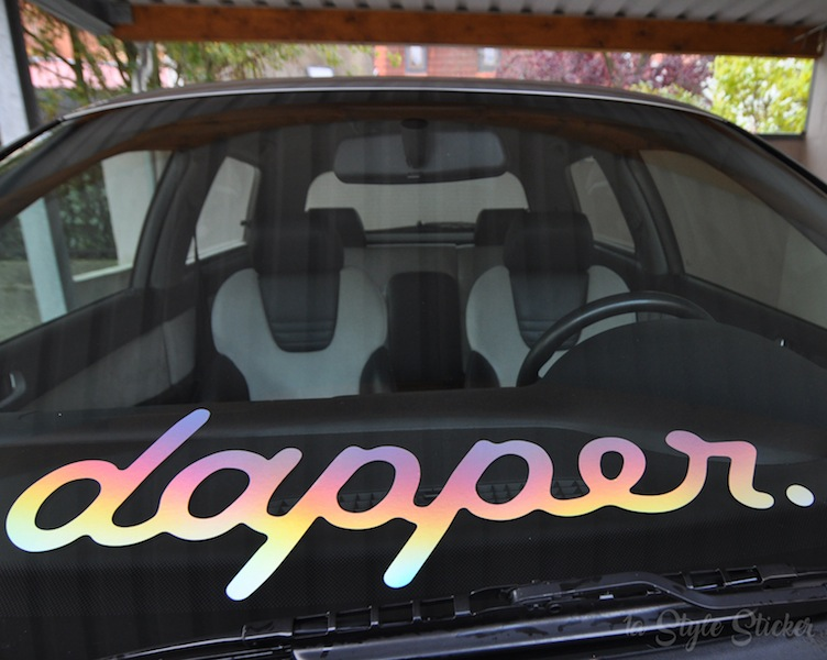 dapper frontscheibenaufkleber oilslick dapper sticker. Black Bedroom Furniture Sets. Home Design Ideas